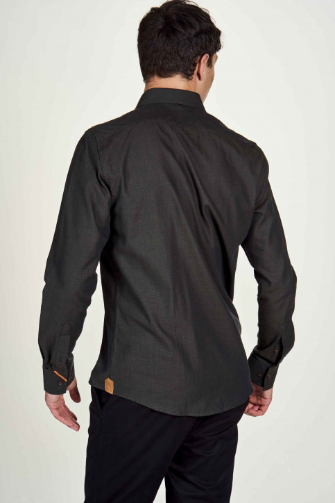 Le Fabuleux Marcel De Bruxelles Hemden (lange mouwen) bruin IMP202MT 022_BROWN img3
