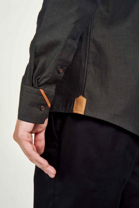 Le Fabuleux Marcel De Bruxelles Hemden (lange mouwen) bruin IMP202MT 022_BROWN img4