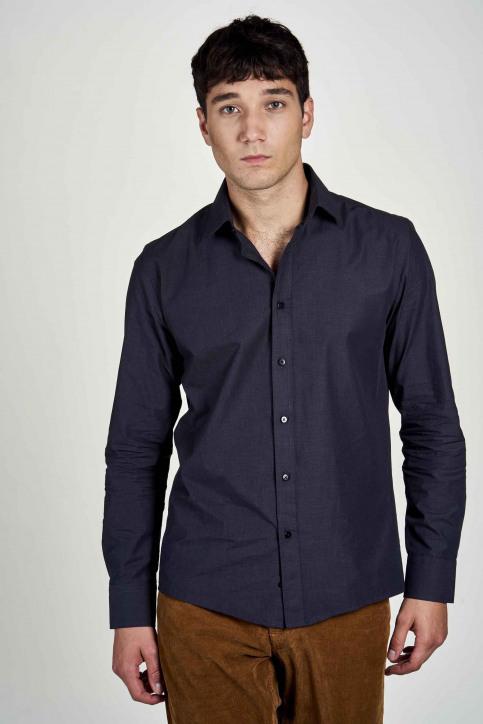 Le Fabuleux Marcel De Bruxelles Hemden (lange mouwen) blauw IMP202MT 023_NAVY img1