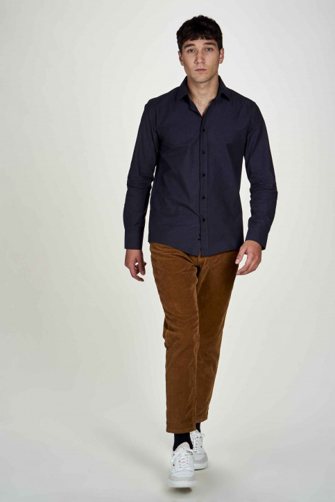 Le Fabuleux Marcel De Bruxelles Hemden (lange mouwen) blauw IMP202MT 023_NAVY img2