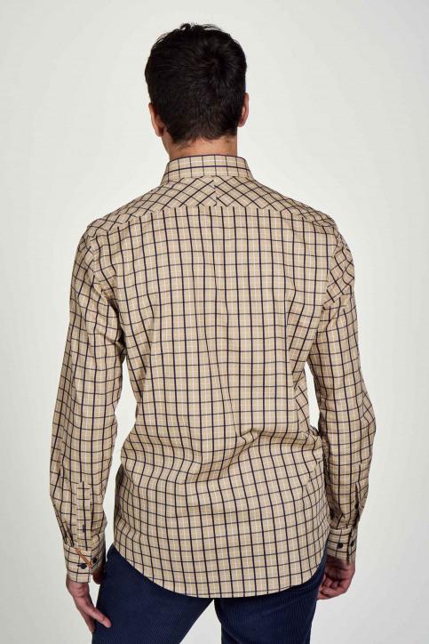 Le Fabuleux Marcel De Bruxelles Hemden (lange mouwen) beige IMP202MT 024_CAMEL CHECK img3