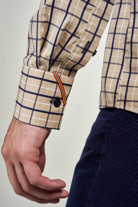 Le Fabuleux Marcel De Bruxelles Hemden (lange mouwen) beige IMP202MT 024_CAMEL CHECK img4