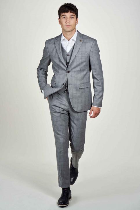 Le Fabuleux Marcel De Bruxelles Pantalons de costume gris IMP204MT 019_GREY CHECK img2
