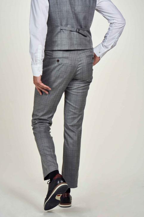 Le Fabuleux Marcel De Bruxelles Pantalons de costume gris IMP204MT 019_GREY CHECK img3