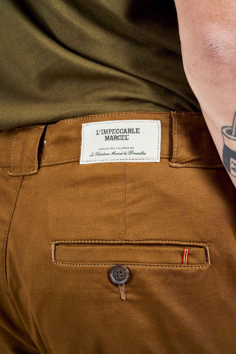 Le Fabuleux Marcel De Bruxelles Chino's bruin IMP204MT 031_MEDIUM COGNAC img4