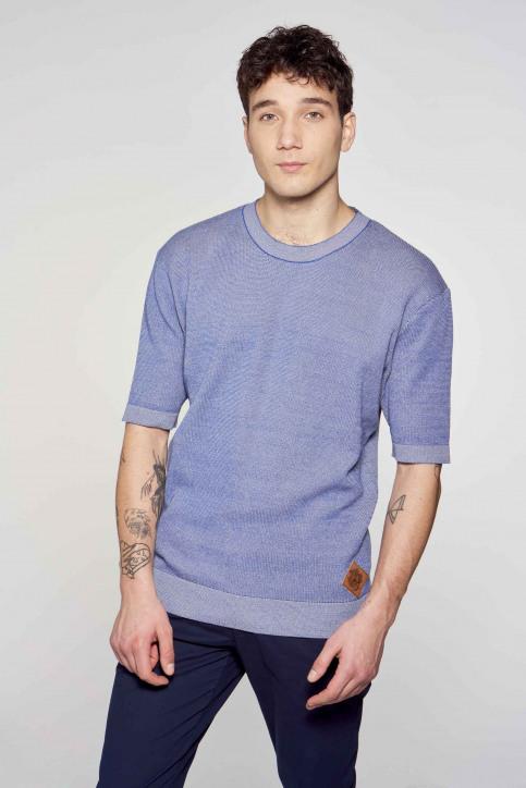 Le Fabuleux Marcel de Bruxelles T-shirts (korte mouwen) blauw IMP211MT 009_BLUE img2