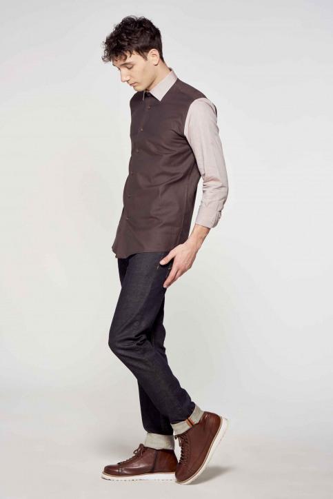 Le Fabuleux Marcel de Bruxelles Hemden (lange mouwen) beige IMP211MT 012_SAND WALNUT img1