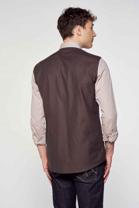Le Fabuleux Marcel de Bruxelles Hemden (lange mouwen) beige IMP211MT 012_SAND WALNUT img3