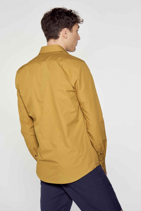 Le Fabuleux Marcel de Bruxelles Hemden (lange mouwen) bruin IMP211MT 013_DRIED TOBACCO img4