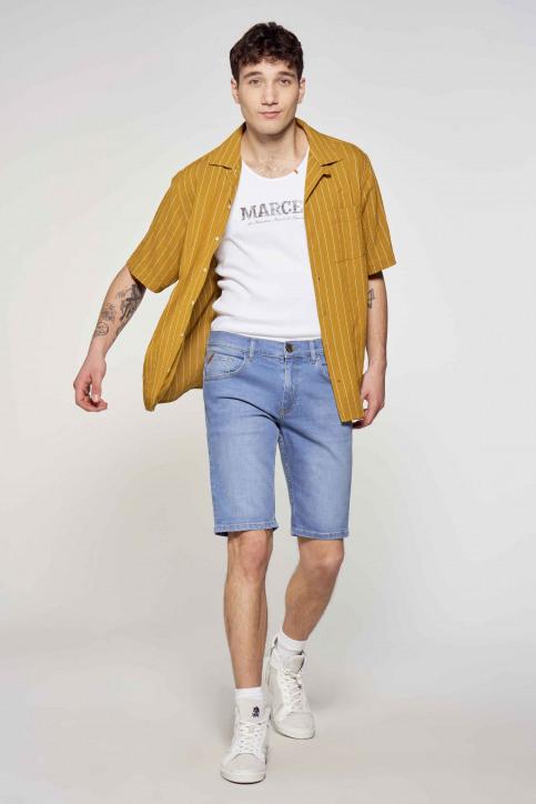 Le Fabuleux Marcel de Bruxelles Hemden (korte mouwen) bruin IMP211MT 036_DRIED TOBACCO img1