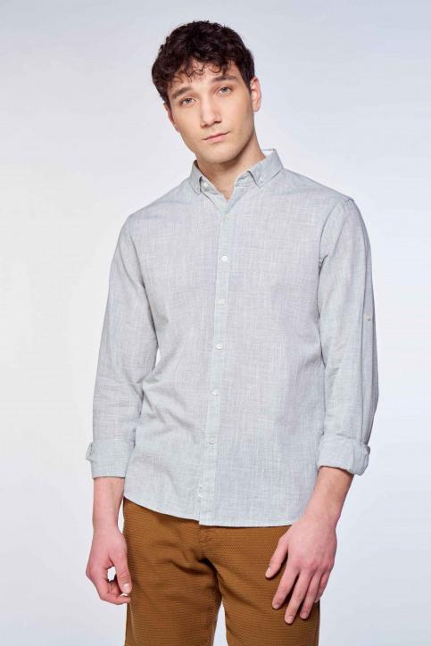 Le Fabuleux Marcel de Bruxelles Hemden (lange mouwen) grijs IMP211MT 039_CAMEO GREEN img2