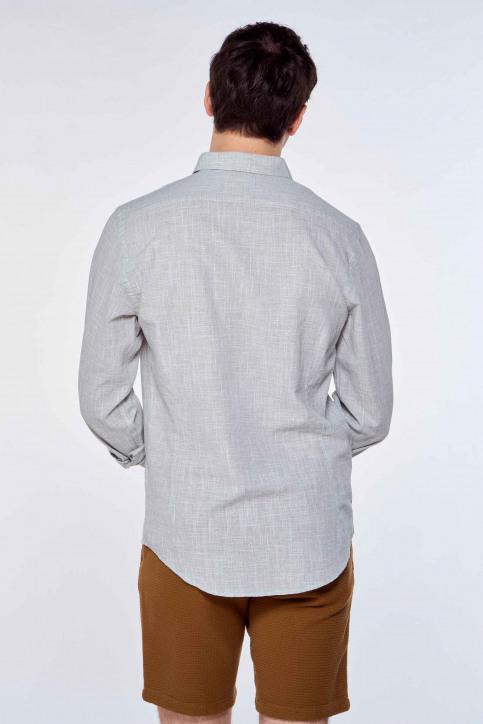Le Fabuleux Marcel de Bruxelles Hemden (lange mouwen) grijs IMP211MT 039_CAMEO GREEN img3