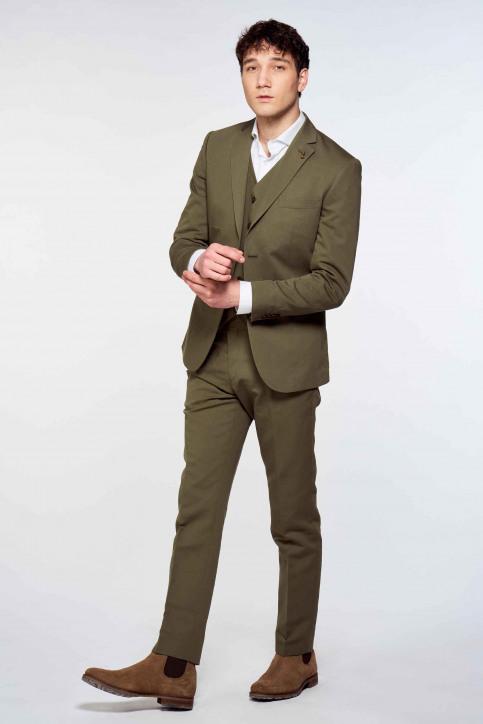 Le Fabuleux Marcel De Bruxelles Kostuumbroeken groen IMP213MT 003_KHAKI img1