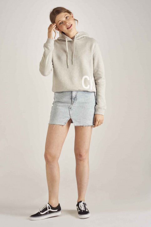 Calvin Klein Sweaters met kap grijs J20J211480_038 LIGHT GREY img2