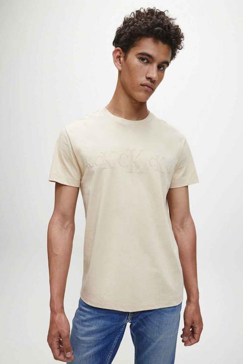 Calvin Klein T-shirts (korte mouwen) beige J30J316471AEB_AEB IRISCH CREA img1