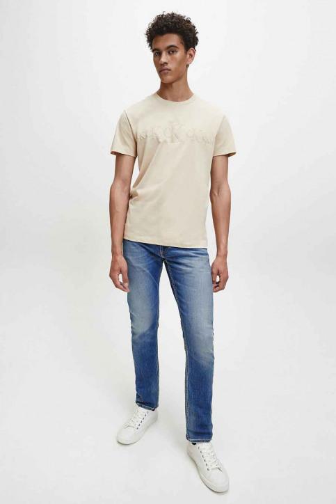 Calvin Klein T-shirts (korte mouwen) beige J30J316471AEB_AEB IRISCH CREA img2