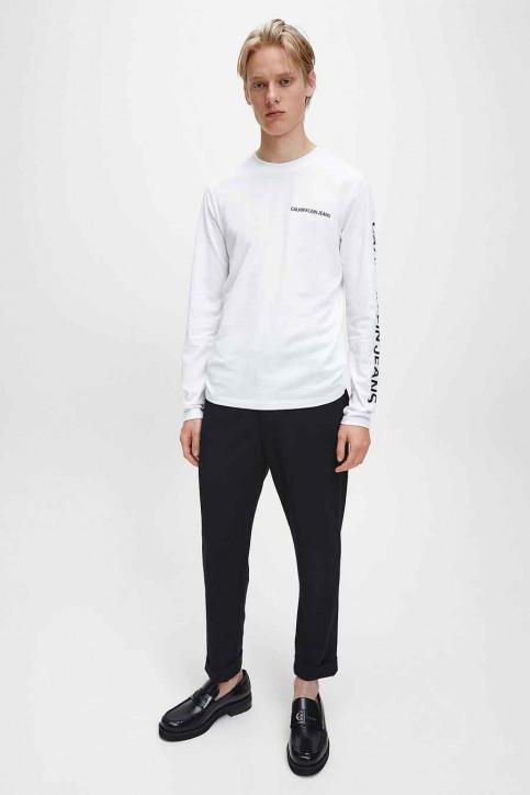 Calvin Klein T-shirts (lange mouwen) wit J30J316884YAF_YAF BRIGHT WHIT img1