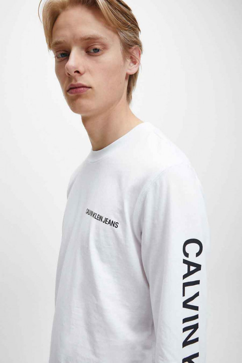 Calvin Klein T-shirts (lange mouwen) wit J30J316884YAF_YAF BRIGHT WHIT img3