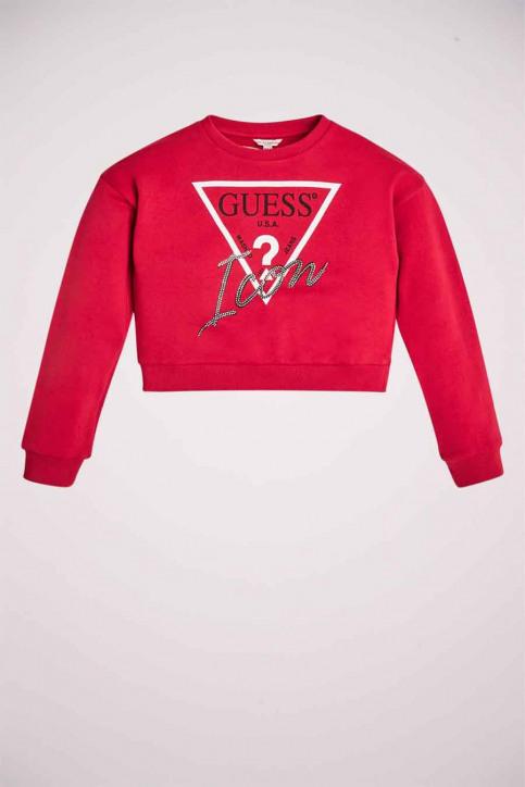 GUESS Sweaters met O-hals rood J91Q10K8D80DIPK_DIPK DISCO PINK img1