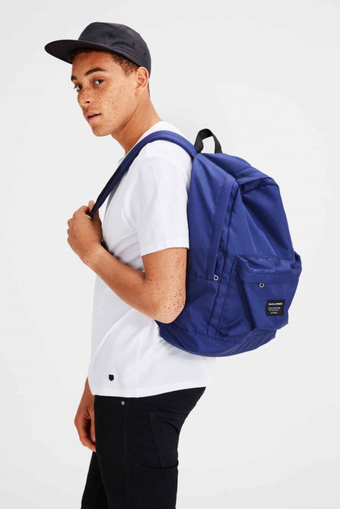 ACCESSORIES BY JACK & JONES Sacs à dos bleu JACBASIC BACKPACK_CLASSIC BLUE img4