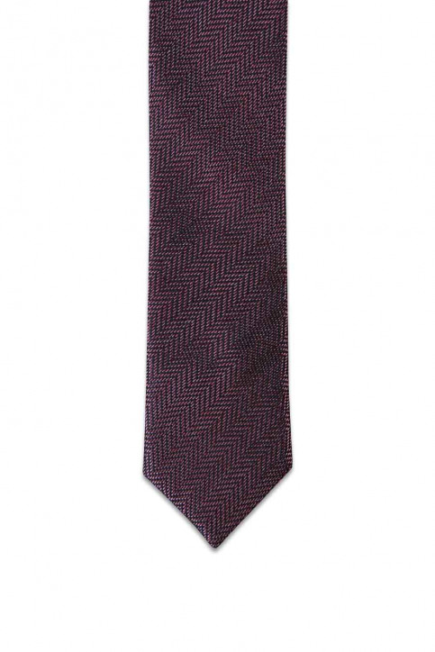 ACCESSORIES BY JACK & JONES Cravates bordeaux JACCUBA TIE_FUDGE img2