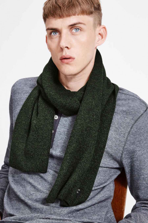 ACCESSORIES BY JACK & JONES Echarpes vert JACDNA KN SCARF RCH_RIFLE GREEN img1