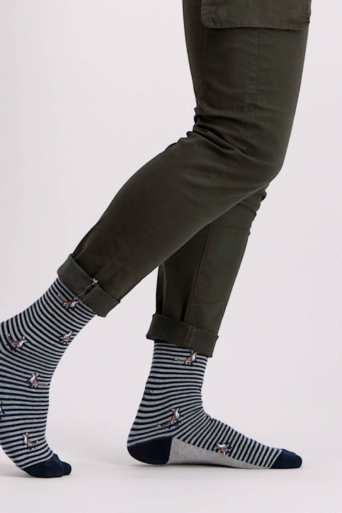 ACCESSORIES BY JACK & JONES Chaussettes bleu JACHISTORY SOCKS_NAVY BLAZER img2