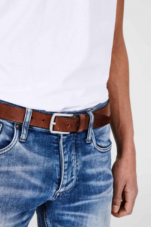 ACCESSORIES BY JACK & JONES Riemen JACLEE LEATHER BELT_MOCHA BISQUE img3