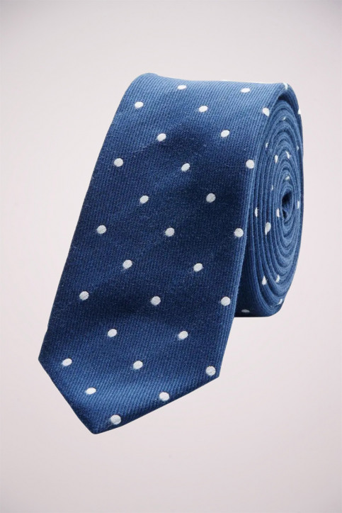 ACCESSORIES BY JACK & JONES Cravates blanc JACMILANO TIE_WHITEDOT img1
