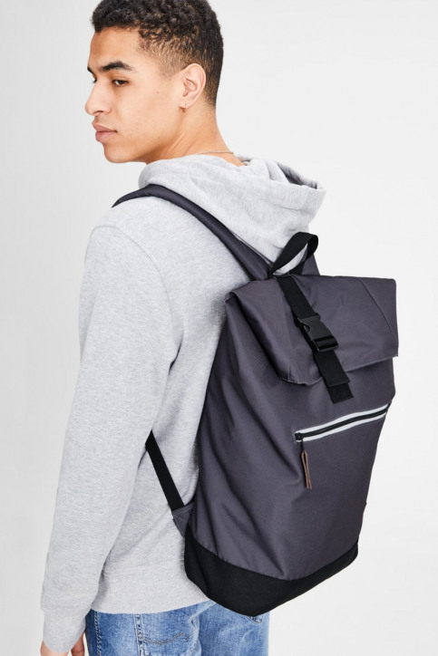 ACCESSORIES BY JACK & JONES Sacs à dos gris JACROLL TOP BACKPACK_ASPHALT img1