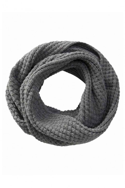 ACCESSORIES BY JACK & JONES Echarpes gris JACWAFFLE KNIT TUBE_GREY MELANGE img2