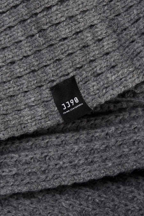 ACCESSORIES BY JACK & JONES Echarpes gris JACWAFFLE KNIT TUBE_GREY MELANGE img3