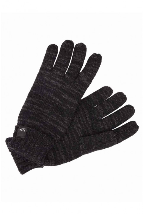 ACCESSORIES BY JACK & JONES Gants gris JCONOAH KNITTED GLOV_DARK GREY MEL img1