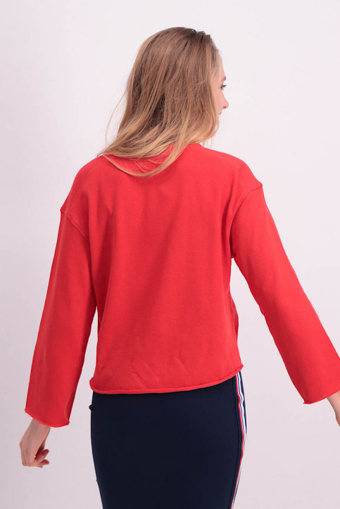 JACQUELINE de YONG Sweaters met ronde hals rood JDYABIGAIL LS SWEAT_HIGH RISK RED img3