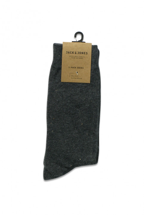 ACCESSORIES BY JACK & JONES Chaussettes gris JENS SOCK 1113_DARK GREY MELAN img2