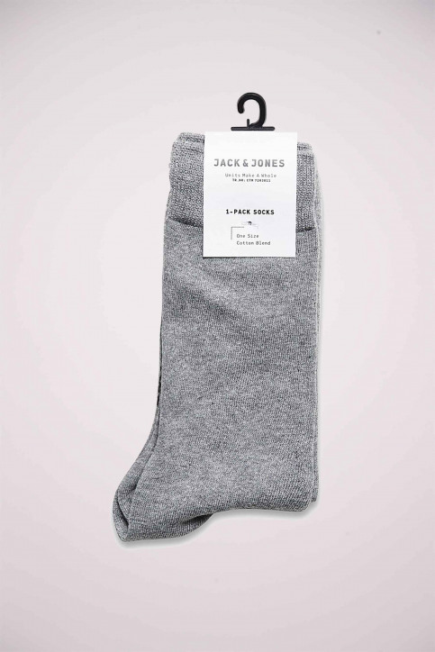 ACCESSORIES BY JACK & JONES Chaussettes gris JENS SOCK 1113_GREY MELANGE img1