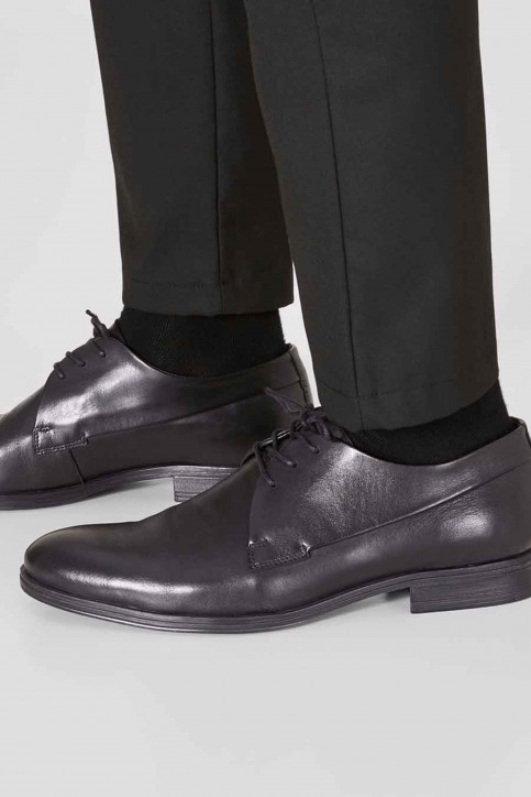 ACCESSORIES BY JACK & JONES Chaussures noir JFWSAMMY LEATHER NOO_ANTRACITE img1