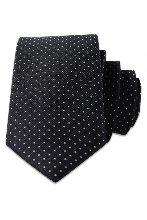 ACCESSORIES BY JACK & JONES Cravates noir JJACNOOS TIE_BLACK DOTS img2