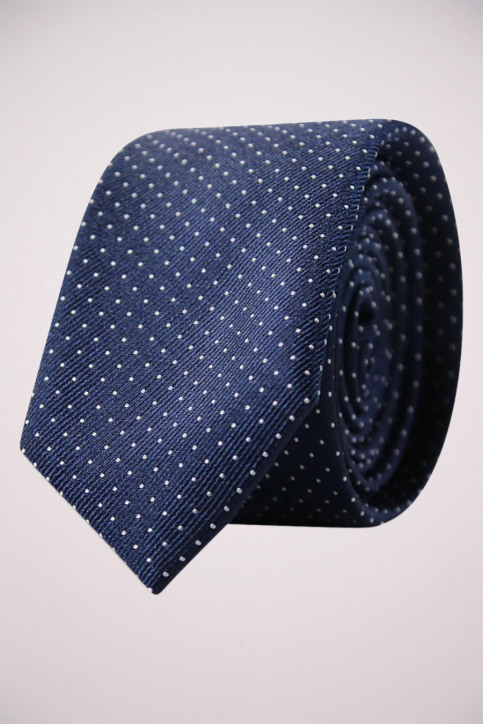 ACCESSORIES BY JACK & JONES Dassen blauw JJACNOOS TIE_BLACK NAVY DOTS img1