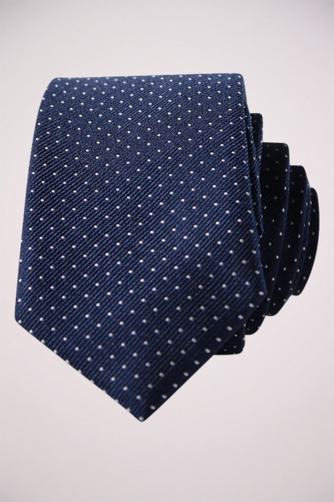 ACCESSORIES BY JACK & JONES Dassen blauw JJACNOOS TIE_BLACK NAVY DOTS img2