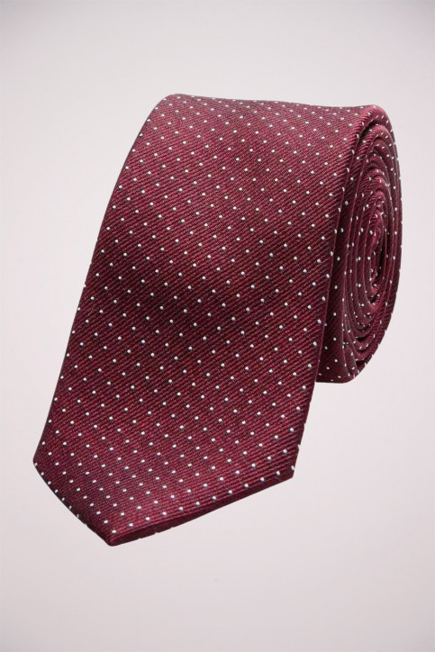 ACCESSORIES BY JACK & JONES Cravates JJACNOOS TIE_BURGUNDY DOTS img1