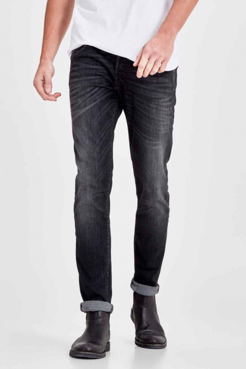 JACK & JONES JEANS INTELLIGENC Jeans slim noir JJGLENN FOX_BL655BLACK img1