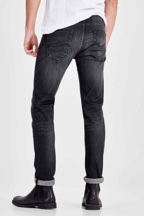 JACK & JONES JEANS INTELLIGENC Jeans slim noir JJGLENN FOX_BL655BLACK img2
