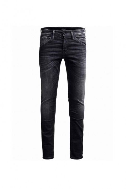 JACK & JONES JEANS INTELLIGENC Jeans slim noir JJGLENN FOX_BL655BLACK img3