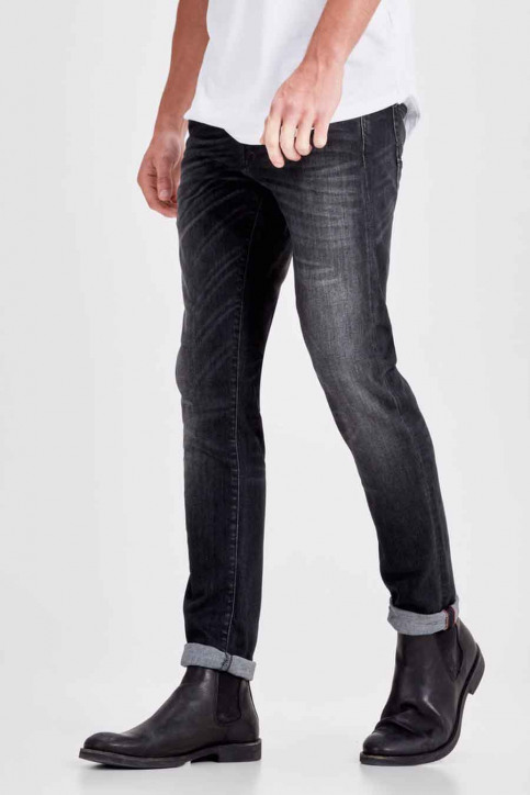 JACK & JONES JEANS INTELLIGENC Jeans slim noir JJGLENN FOX_BL655BLACK img6