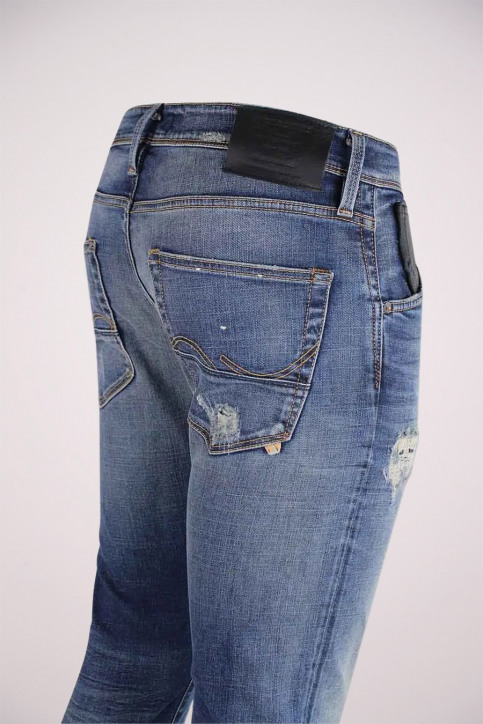 JACK & JONES JEANS INTELLIGENC Jeans slim denim JJGLENN FOX_BL683VINTDESTR img4