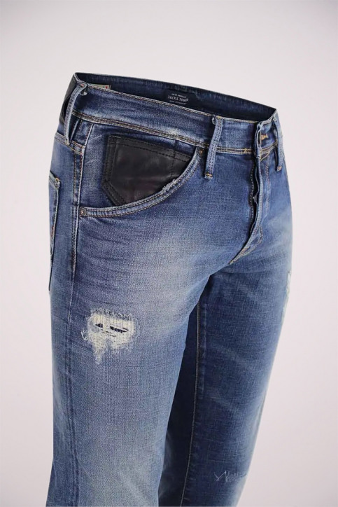 JACK & JONES JEANS INTELLIGENC Jeans slim denim JJGLENN FOX_BL683VINTDESTR img5