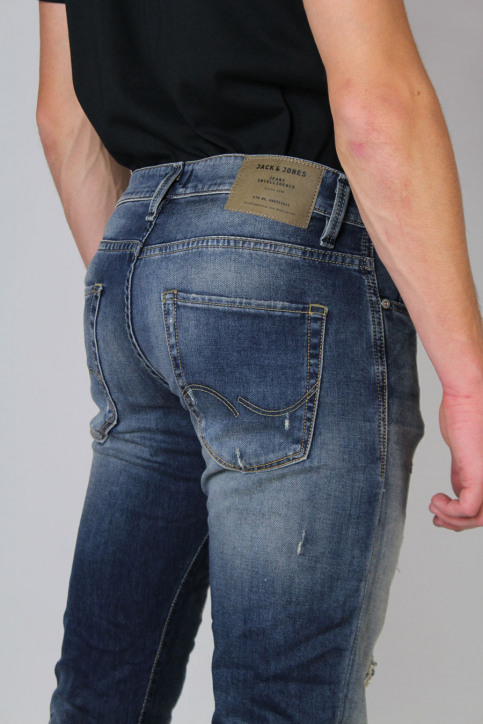 JACK & JONES JEANS INTELLIGENC Jeans slim denim JJGLENN ICON_BL670 img4