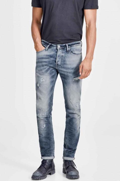 JACK & JONES JEANS INTELLIGENC Jeans slim denim JJIGLENN JJPAGE_BL795BLUEDESTR img1