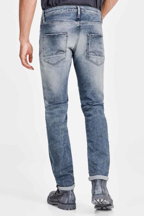 JACK & JONES JEANS INTELLIGENC Jeans slim denim JJIGLENN JJPAGE_BL795BLUEDESTR img3